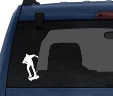 Skateboard Trick #5- Skate Shop Art Freestyle Ollie Jump- Car Tablet Vinyl Decal