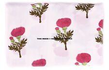 Indian Hand Block Print Rayon Fabric Natural Printed Handmade Sanganeri 5/10 YD