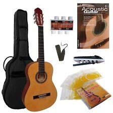 Gitarre, 4/4, im Set - Zubehör-Tasche+Band+Kapo+extra Saiten+ LERN-SCHULE mit CD