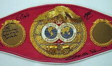 Joe Frazier, Sugar, Camacho, Jones Jr & More Signed IBF Boxing Championship Belt