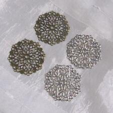 Lot de 5 estampes AU CHOIX apprêt support cabochon 35mm métal argenté ou bronze