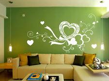 Grande amore cuore salotto letto stanza Adesivo Parete Vinile Arte Decalcomania UK SH51