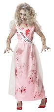 Prom Zombie Walking Dead Haunting Ghost Women Adult Costume