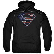 Superman Wartorn Flag Pullover Hoodies for Men or Kids