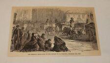 1876 magazine engraving ~ CHURCH OF LA COMPANIA DESTRUCTION, Chile