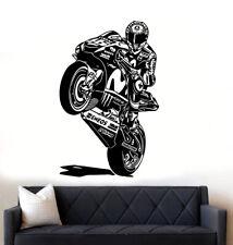 Valentino Rossi Moto GP Vinyle Sticker/Autocollant Large Mural Art Garçons Chambre Garage