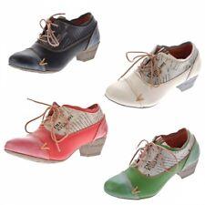 TMA Damen Echtleder Pumps TMA 6161 Leder Schuhe Schwarz Rot Gr. 36 - 42