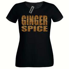 Leopard Print Ginger Spice Tshirt, Ladies Fitted Tshirt,Girls T Shirt