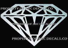 VRS Diamond CUSTOM INITIAL V DIAMANTE JEWEL STONE Metal CAR Decal Wall Sticker