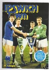 PRG    UEFA Cup  80/81    IPSWICH TOWN - 1.FC KÖLN  1/2