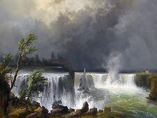 NIAGARA FALLS J. Puttner water rock Tile Mural Kitchen Backsplash Marble Ceramic