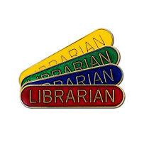 Round Edge Librarian Bar School Badge