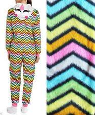NEW Women's 3 D One-Piece Hooded Pajamas Onesie Sleepwear S M L XL Chevron Owl