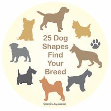 Joanie STENCIL Beagle Dog Yorkie Pug Lab Corg Paw Kennel Animal Pet Sign U Paint