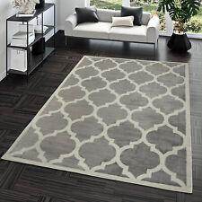 Kurzflor Teppich Modern Marokkanisches Design Wohnzimmer Interior Trend Grau