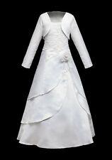 Kleid + Reifrock +/- Bolero 134 140-146 Kommunionkleid Jacke Taufkleid neu LISA