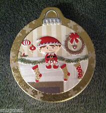 Original Gourmet Christmas Ornament Tin Elf Mantle Wreath Ornaments Stockings