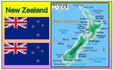 NEW ZEALAND MAP - SOUVENIR NOVELTY FRIDGE MAGNET - NEW - GIFT / XMAS / B/DAY