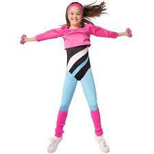 Kinder Mädchen Kostüm Aerobic 80er Popstar Fitness Fasching Karneval Verkleidung