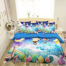 3D Cartoon Kid 5 Bed Pillowcases Quilt Duvet Cover Set Single Queen King Au Cobb