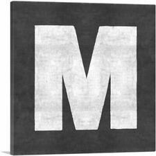 ARTCANVAS Chalkboard Alphabet Letter M Canvas Art Print