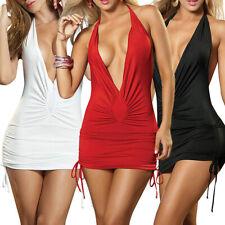 Sexy Women Sleeveless Bodycon Clubwear Evening Party Short Slim Mini Dress