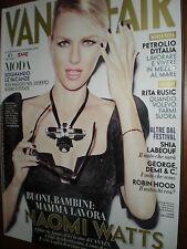 Vanity Fair.NAOMI WATTS,LUCA ARGENTERO,SHIA LaBEOUF,j