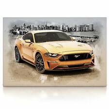 Ford Mustang, Poster oder Leinwand Bild auf Keilrahmen, Modern Art abstrakt