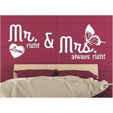 Wandtattoo Spruch  Mr. right Mrs. always right Hochzeit Sticker Wandaufkleber 2