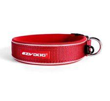 "EZYDOG PADDED NEOPRENE DOG COLLAR ""NON ROT / NON SMELL""  RED + Free Gift"