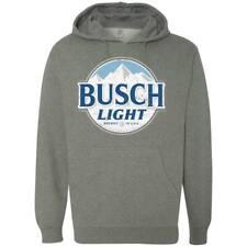 Busch Light Grey Logo Hoodie Gray