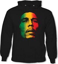 BOB MARLEY multicolor Cara - Sudadera para hombre Reggae Música Jamaica