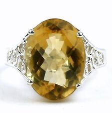 Citrine, Solid 925 Sterling Silver Ladies Ring, SR049-Handmade