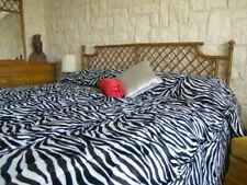 Zebra Faux Fur Luxury Bedspread - Animal - in Twin, Dorm/Full, Queen, King
