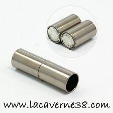 set fermoir magnétique aimanté tube creux résille tubulaire Buna Cord Anthracite