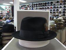 STETSON SAXON BLACK FUR FELT FEDORA DRESS HAT