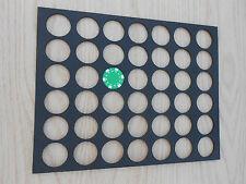42 Poker Chip Display Frame Insert Fits Both Casino/Harley Davidson Chips