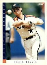 1993 Score Houston Astros Baseball Card #18 Craig Biggio