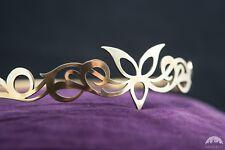 "Medieval Crown ""Trefoil""; Brass Crown; Circlet; Women's Tiara"