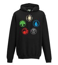 Magic the Gathering MTG TCG colours planes land hooded sweatshirt