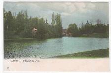 L'Etang du Parc Gand Ghent Belgium 1905c postcard