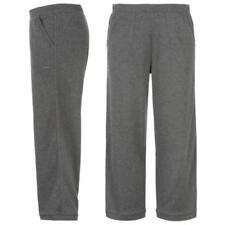 LA Gear Ladies Jogging  Bottoms 3/4 Running Gym Fitness Sweatpants Charcoal Grey