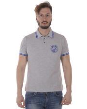 Polo Versace Jeans Polo Shirt % SLIM Uomo Grigio B3GRA7P1-800