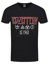 Led Zeppelin T-shirt Symbols Est 68 Men's Black