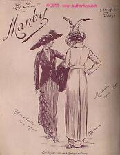 PUBLICITE MANBY MANTEAUX COSTUME TAILLEUR POUR DAME MODE DE 1912 FRENCH ADVERT