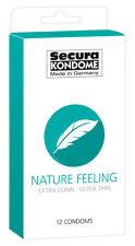 Nature Feeling Preservativi Ultra Sottili Trasparenti Latex Profilattici Secura