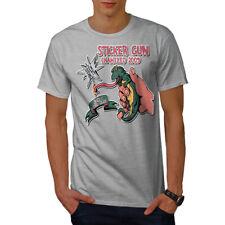 Wellcoda Sticker Gun Joke Mens T-shirt, Chameleon Graphic Design Printed Tee
