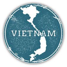 Vietnam Map Grunge Rubber Travel Stamp Car Bumper Sticker Decal  -   3'' or 5''