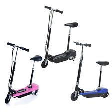 HOMCOM-Scooter Elettrico con Sella Pieghevole Altezza Regolabile in Metallo e PE