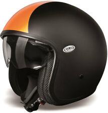 Premier Jet Vintage Helmet Motorbike Motorcycle Black Orange SALE